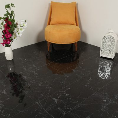 Klinker Carrara Svart Blank 30X60