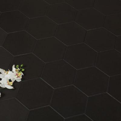 Klinker Hexagon Black 14X16