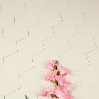 Klinker Hexagon White 14X16