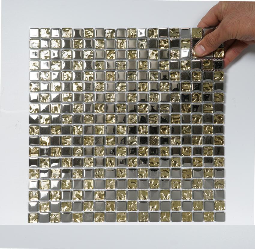 Kristallmosaik Silver And Gold