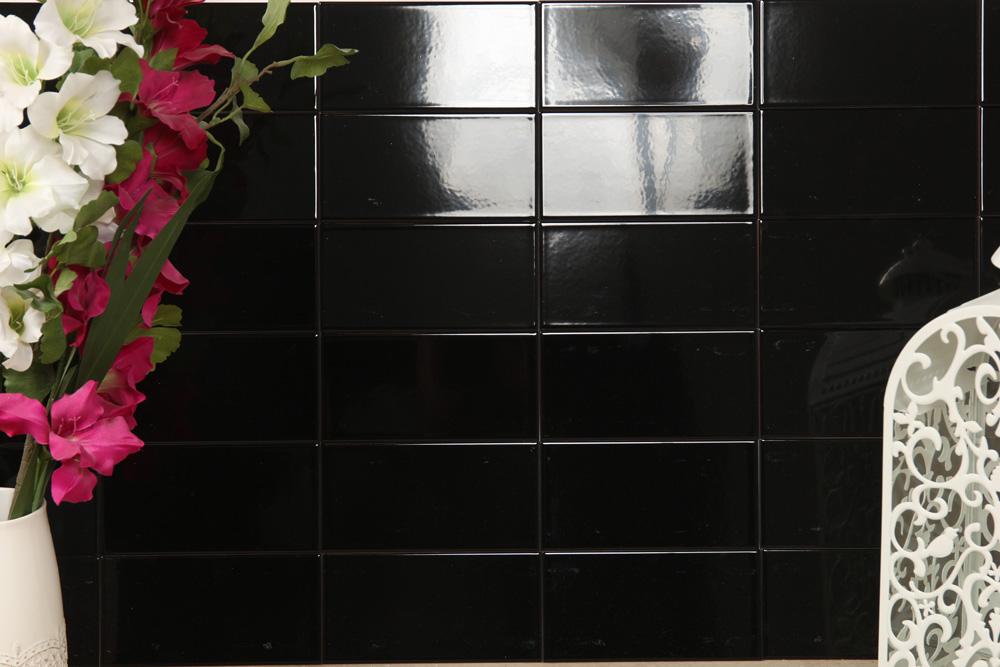 Kakel Rivoli Negro 10X20