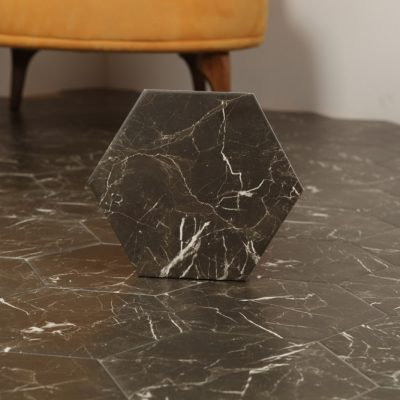 Klinker Hexagon Carrara Black 20X23