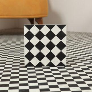 Marockanskt Kakel Black & White 20X20