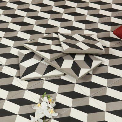 Marockanskt Kakel Nador Black & White 20X20
