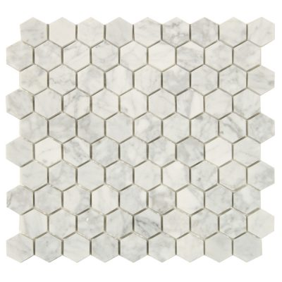 Mosaik White And Grey Marble Hexagon 30X30