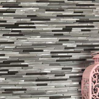 Stavmosaik Sticks Steel Black