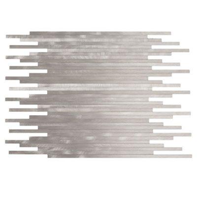 Stavmosaik Aluminium Silver Borstad 30X30