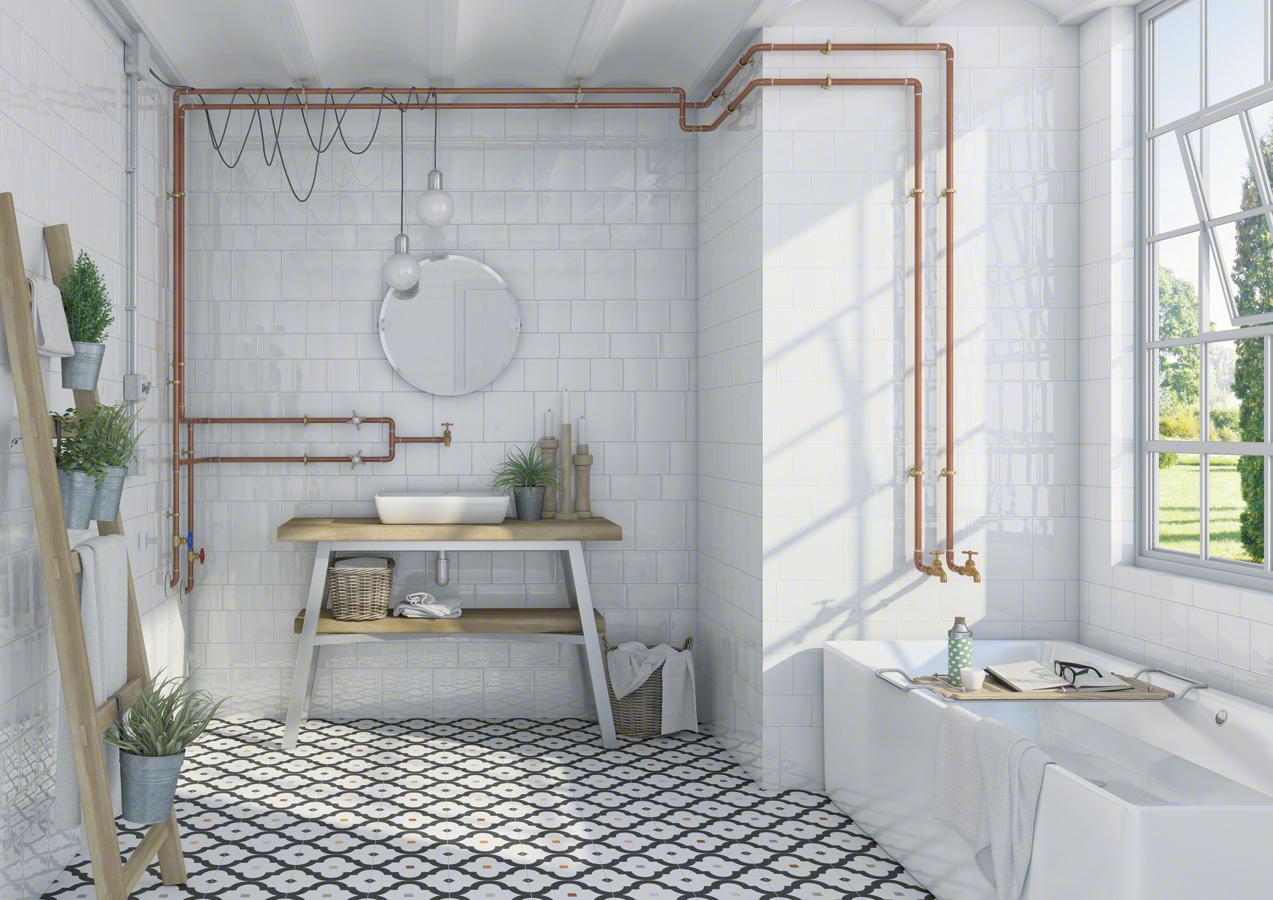 Tile 13 x 13 Finland ⋆ Etnia Tilesrus Blanco