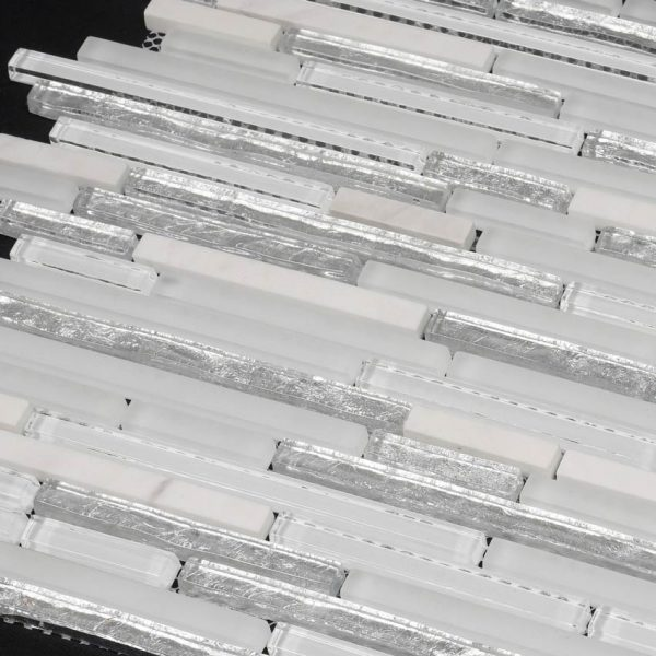 Mosaik Sticks Glass White 30X30