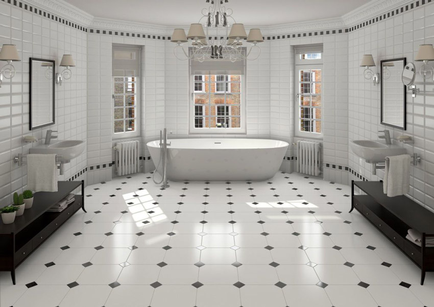 Beau Tile Octagon White 20 X 20